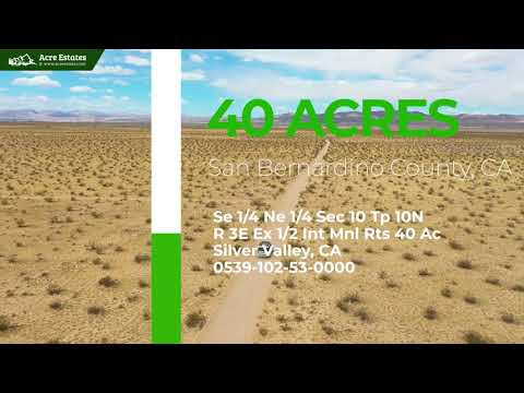 Stunning 40-Acre Parcel Near Hiking Trails & Campgrounds in Barstow, CA!