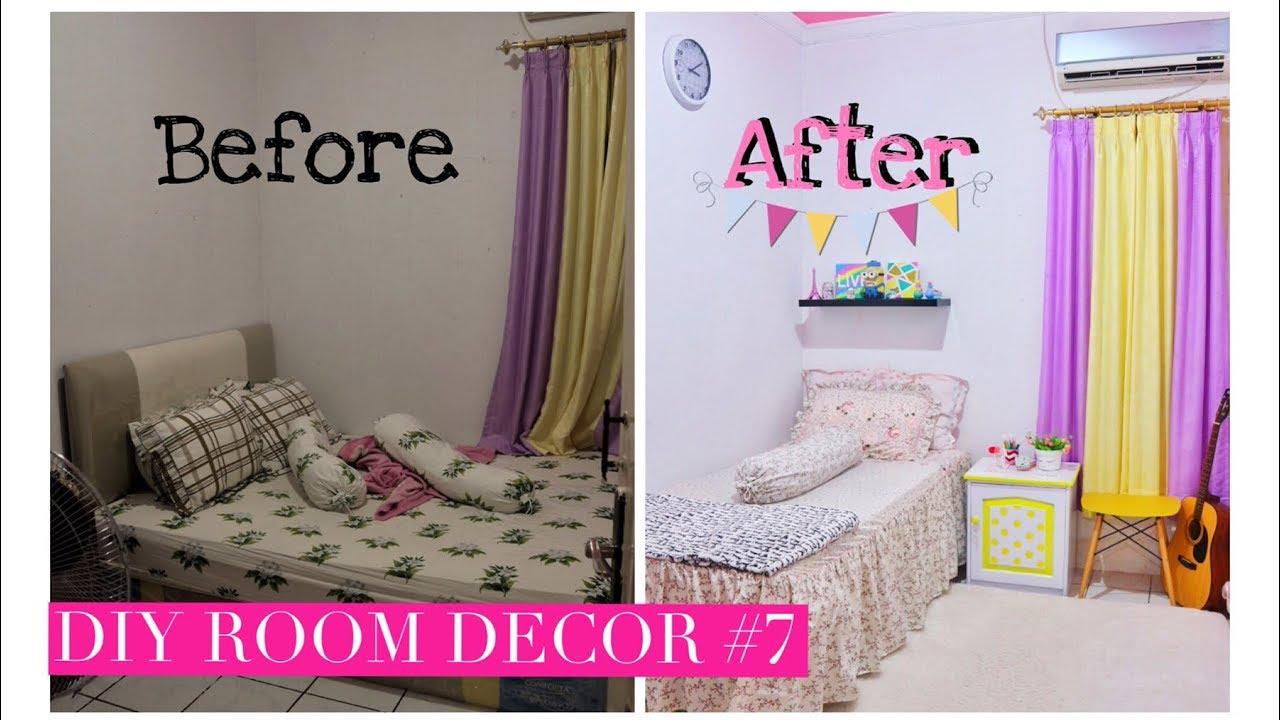 Diy Room Decor 7 Makeover Kamar Before After Youtube