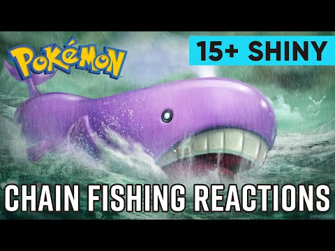 15+ Chain Fishing Shiny Reactions For Pokemon XY And ORAS
