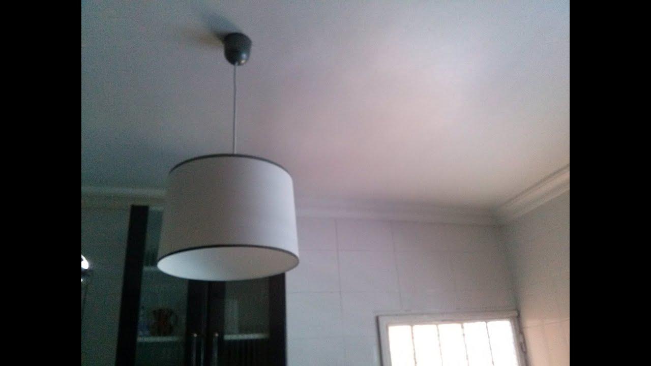 L mpara casera hecha con pl stico reciclado handmade lamp - Lamparas de techo hechas en casa ...