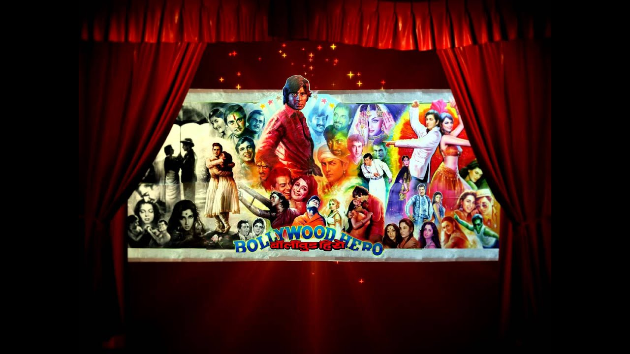 Bollywood movie poster animated backdrop - YouTube