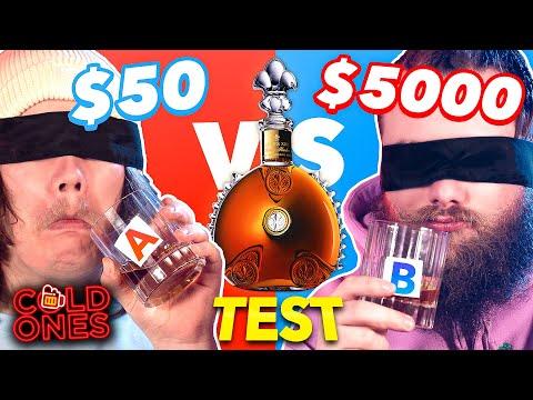 $50 VS $5000 Blindfolded Alcohol Taste Test
