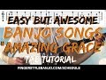 "Easy (but awesome!) Banjo Songs: How to Play ""AMAZING GRACE"" (3 Finger Banjo)"