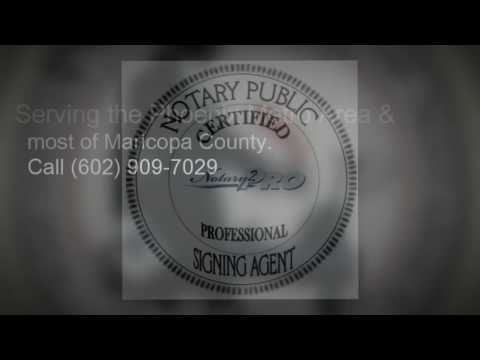 Mobile Notary Phoenix | 602 909-7029 | AZ Mobile Notary Services