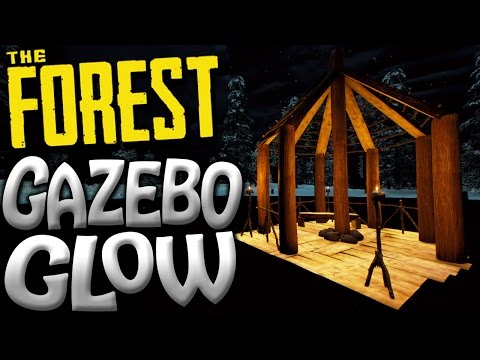 The Forest | CASTLE BASEMENT BUILD AND GLOWING GAZEBO! | Update 0.50 Gameplay | S2 EP25