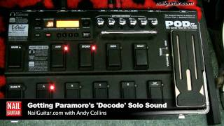 How To Get The Paramore 'Decode' Electric Guitar Solo Distortion Sound Using POD XT Live Line 6 ...