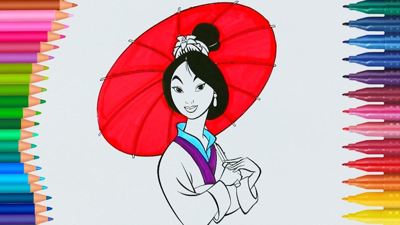 Prenses Mulan Cizgi Film Karakteri Boyama Sayfasi Minik Eller
