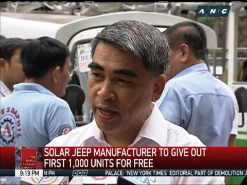 1,000 solar-powered jeepneys being given away for free