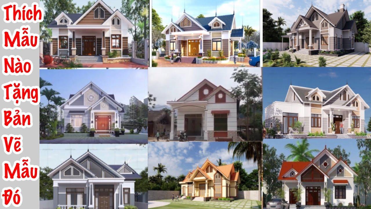 Tặng bản vẽ mẫu nhà bạn thích 50 mẫu cực đẹp .Free drawings of beautiful house samples you like best