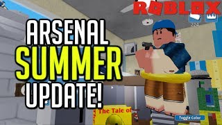NEW ARSENAL SUMMER UPDATE! NEW MAPS, EMOTES, SKINS, TICKETS, ETC (Roblox)