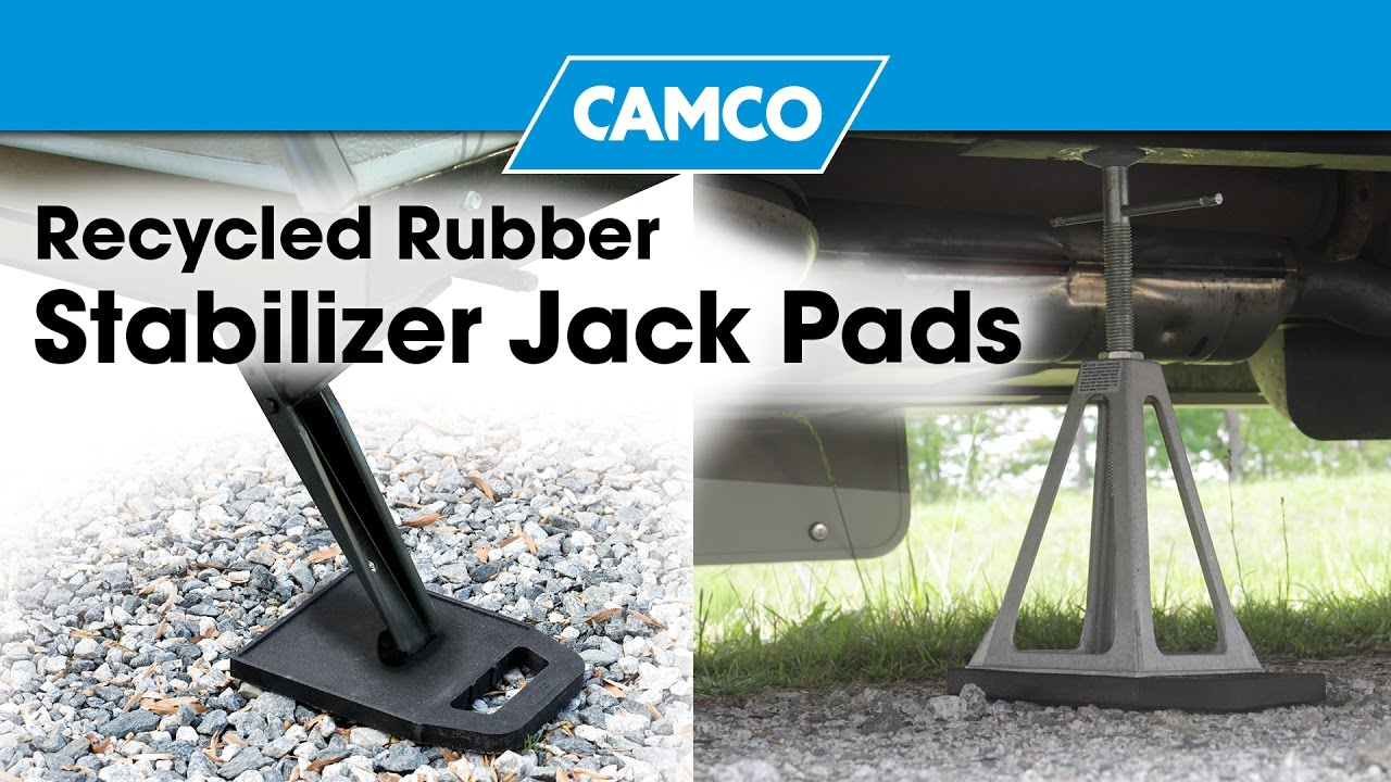 Recycled Rubber Stabilizer Jack Pads Youtube