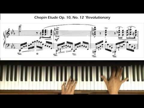 "Chopin Etude Op. 10, No. 12 ""Revolutionary"" Piano Tutorial (with score)"