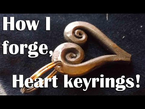 Blacksmithing - how I forge heart keyrings!
