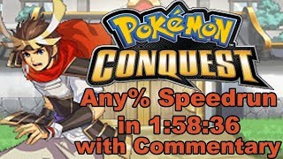 [WR] Pokémon Conquest Any% Speedrun in 1:58:36 RTA with Post Commentary