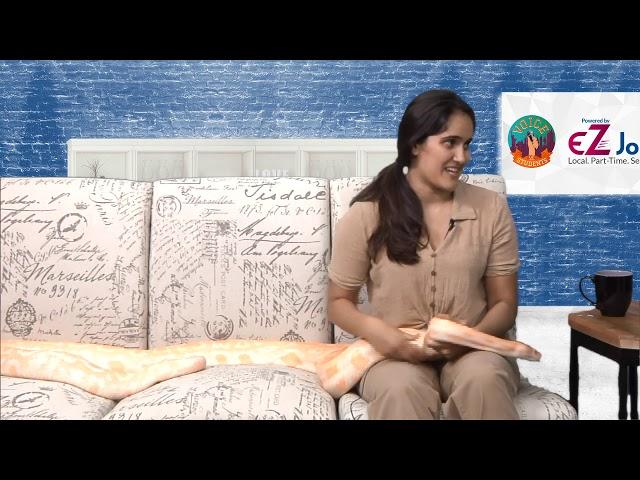 ENDANGERED OR FLOURISHING: The Burmese Python #EZJobs talkshow on VOS with Jyoti Vazirani