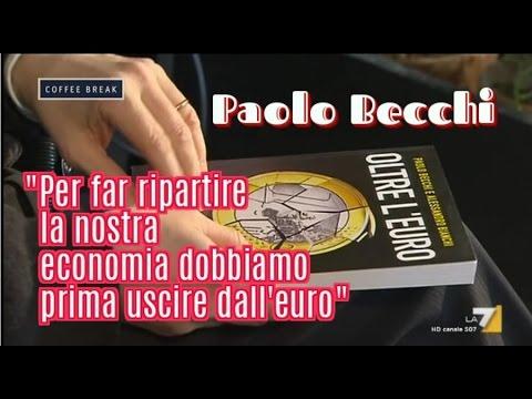 """Paolo Becchi, OLTRE L'EURO: """"Per far ripartire la nostra economia dobbiamo prima uscire dall'Euro"""""""