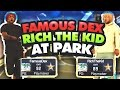 OMG! FAMOUS DEX AND RICH THE KID BALLING ON NBA 2K17 PARK! • RAPPERS AT PARK!