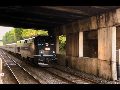 MTA North Train #253 to Albany-Rensselaer arrives at Poughkeepsie from Grand Central station