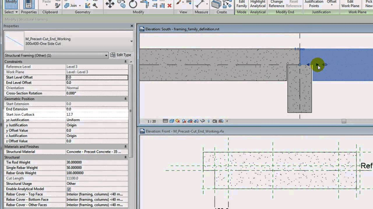 Autodesk Revit: Modify Family References to Adjust Framing Element ...