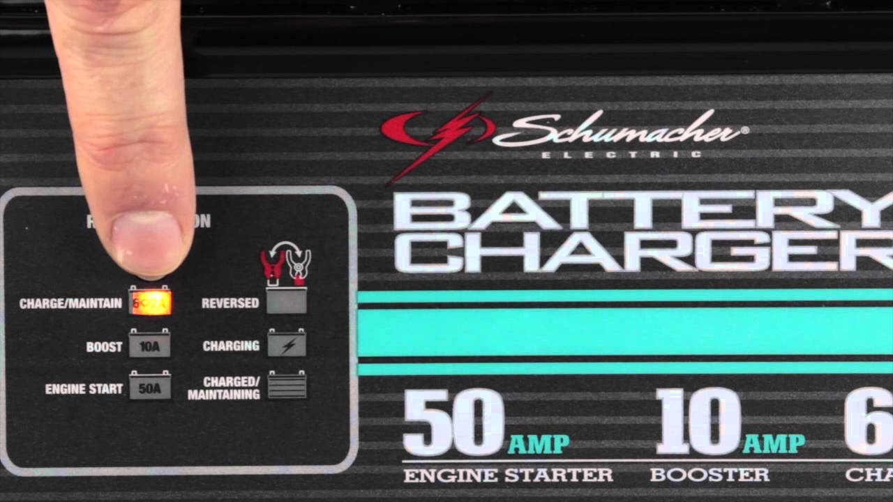 SE50 - 50 Amp Fully Automatic Schumacher Battery Charger - YouTube