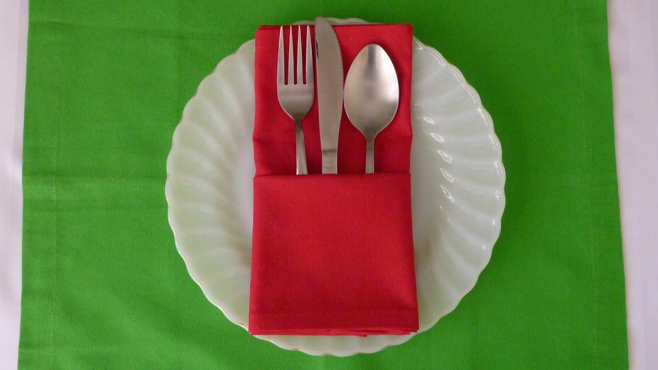 napkin folding basic pouch