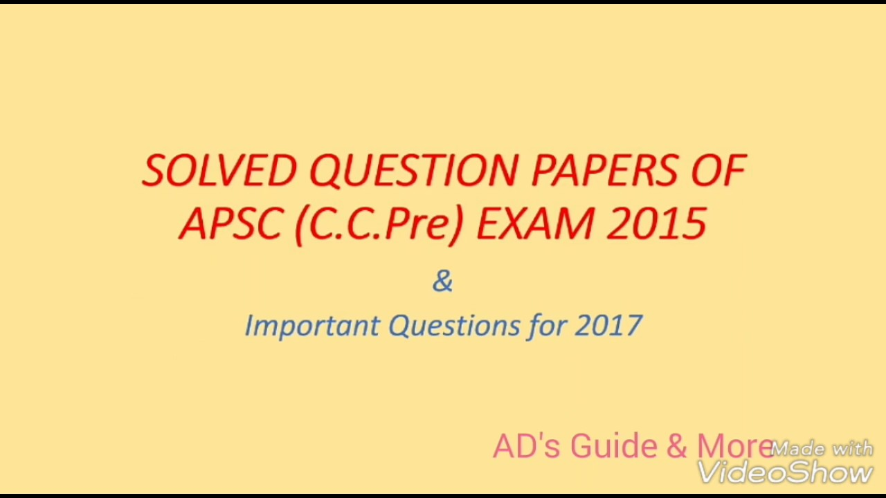 apsc assam public service commission solved paper and important rh youtube com Hay Girl Exam Meme District Court Preliminary Exam