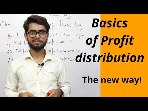 Fundamentals of partnership- 1st topic, profit distribution-Accountancy