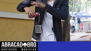 Flying Soda Can & Glass Levitation Magic Impossible - abracadaBRO Best Street Magic Tricks & Prank