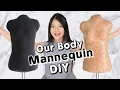 DIY Our Body Shape Mannequin / Dress Form! Draping Directly, Using Duct Tape & Fabric, Custom