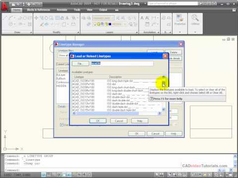 autocad-tutorials---using-the-linetype-manager