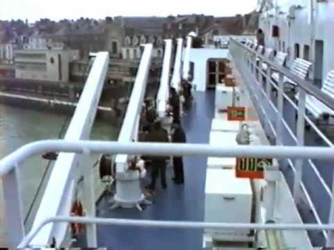 Voyage sur le car-ferry Champs Elysées  au départ de Dieppe le 23 Nov 1990