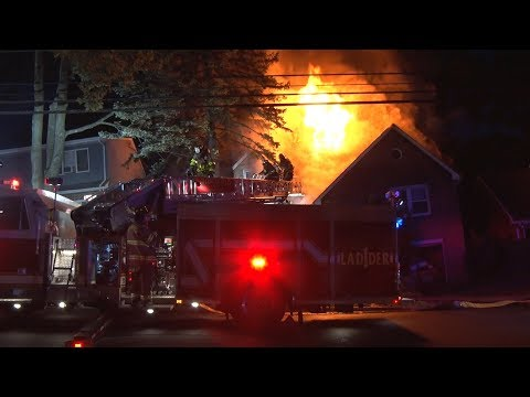 VIDEO: Fire Ravages Vacant Ridgefield House