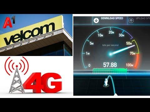 Тест скорости 4G от Velcom (А1)
