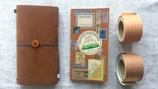 Traveler's Notebook - Setup & Flipthrough (deutsch/German)
