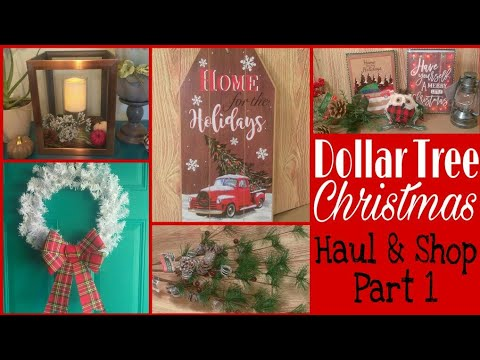 huge dollar tree christmas haul shop part 1 haul