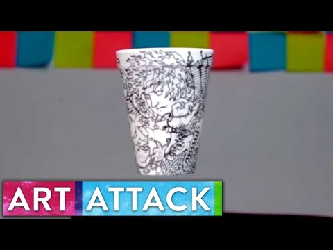 Styrofoam Cup Artist Boey   Art Attack