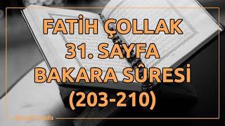 Fatih Çollak - 31.Sayfa - Bakara Suresi (203-210)