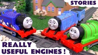 Thomas and Friends Useful Engines with Disney Cars Toys Play Doh Surprise Eggs Family Fun