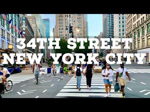 ⁴ᴷ⁶⁰ Reopening New York City | Walking 34th Street