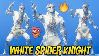 "*NEW* ""WHITE SPIDER KNIGHT"" SKIN SHOWCASE WITH EPIC FORTNITE DANCES & EMOTES..! (Modded)"