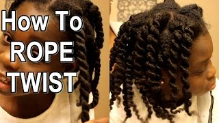 How to Rope Twist for Defined Twistout on Natural Hair | VEDA 2015 Day 19