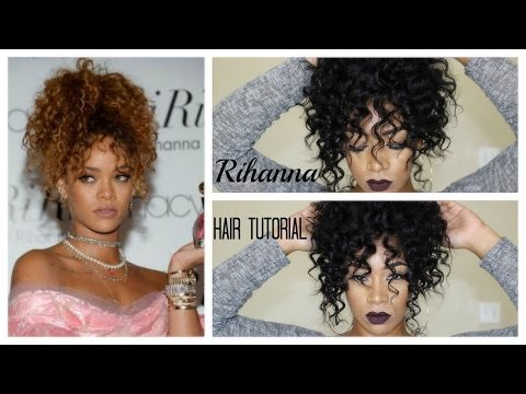 Rihanna Hair Tutorial