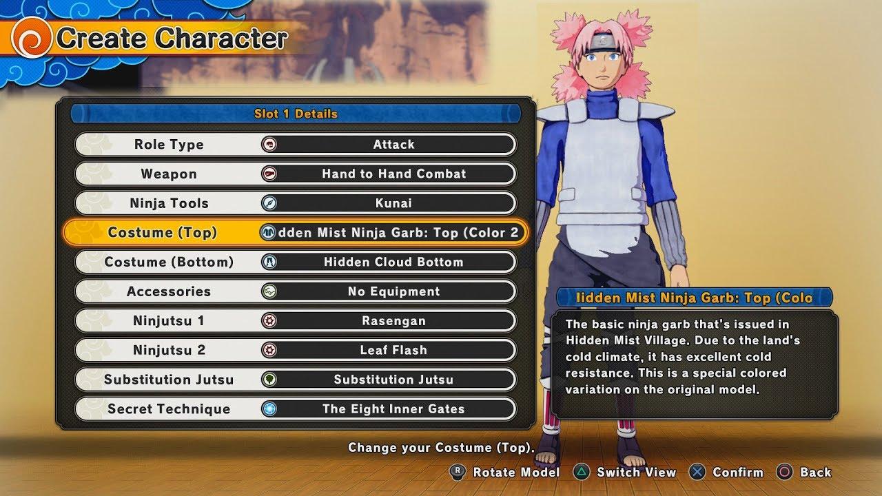 NARUTO to BORUTO Shinobi Striker All Character Creation Options (Costumes,  Jutsu, Appearance)