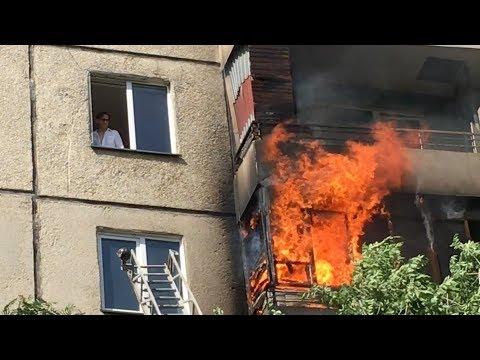 Тушение пожара на северо-западе Челябинска