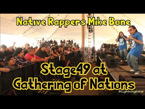 Native American Rappers at Gathering of Nations Pow Wow 2018