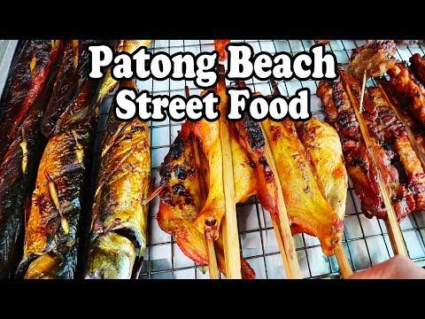 PHUKET STREET FOOD, PATONG BEACH. A Thai Street Food Beach Picnic Phuket Thailand