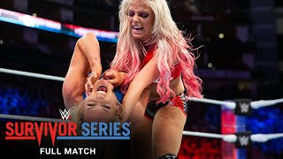 FULL MATCH - Charlotte Flair vs. Alexa Bliss - Champion vs. Champion Match: Survivor Series 2017