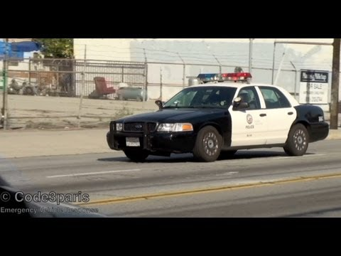 Police car responding and arriving on scene lapd youtube for Motor village dodge los angeles