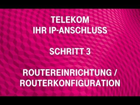 Social Media Post: Telekom - Ihr IP-Anschluss (Schritt 3): Routereinrichtung /...