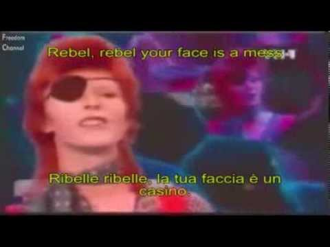 "David Bowie ""Rebel Rebel"" Lyrics & Traduzione ITA (TOTP)"